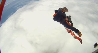 Saut d'initiation PAC ou Trad en parachute à Dieppe