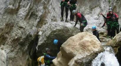 Descente du Canyon de Galamus près de Perpignan