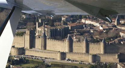 Baptême de l'air en avion près de Carcassonne