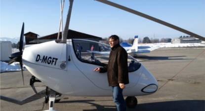 Vol en ULM Autogire près de Grenoble