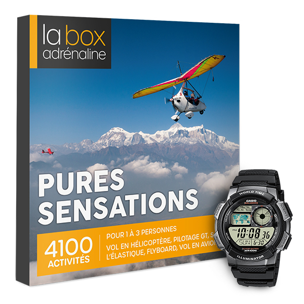 La Box Adrénaline Pures sensations et montre Casio