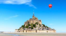 Vol en Montgolfière avec vue panoramique sur la baie du Mont Saint Michel