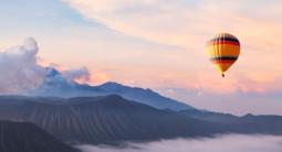 Survol en montgolfière de la Dombes près de Villefranche-sur-Saône