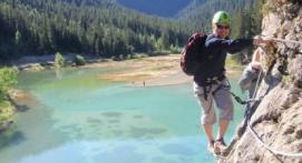 Séance de Via-Ferrata Lac Rosière Moutiers en Savoie