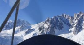 Baptême en ULM au dessus du balcon du Mont-Blanc