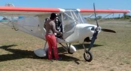 Pilotage d'un ULM près de Béziers
