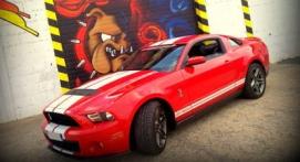 Pilotage sur Route en Mustang Shelby à Figari