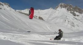 Cours particulier de snowkite à Gap