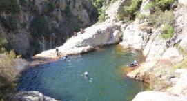 Canyoning dans le Gard près d'Ales
