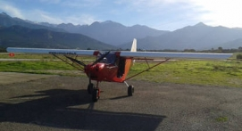 Pilotage d'un ULM près de Cargèse