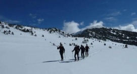 Sortie hors piste en Ski à Bolquère Pyrénées 2000