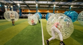 Partie de Bubble football à Lyon