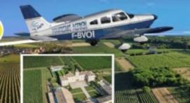 Vol œnologique en avion au dessus des vignobles Occitans