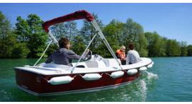 Balade en bateau électrique sans permis à Meaux