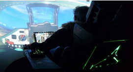 Simulateur de vol en avion de chasse à Cannes