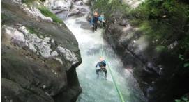 Canyoning à Grenoble - canyon du Furon haut