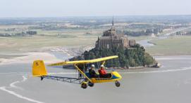 Baptême en ULM à Avranches avec vue sur le Mont Saint Michel