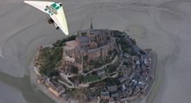 Baptême en ULM au dessus du Mont-Saint-Michel