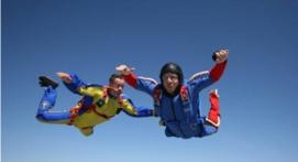 Saut d'initiation PAC en parachute à Peronne