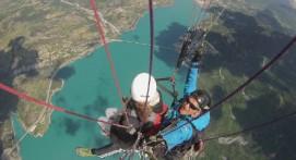 Vol en Parapente au dessus du lac de Serre-Ponçon