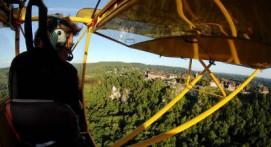 Pilotage d'un ULM près de Bergerac