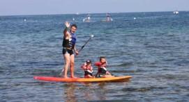 Stand up paddle sur la plage de la Madrague à Sainte Maxime