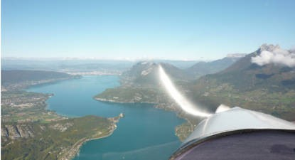 Baptême en ULM au dessus des lacs du Bourget et d'Annecy