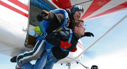 Saut parachute tandem Cherbourg