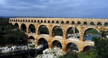 Baptême en ULM au dessus du Pont du Gard