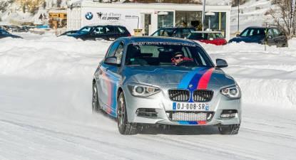 Coaching de pilotage sur glace en BMW à Val d'Isère