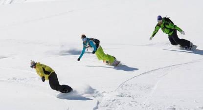 Cours collectif snowboard à Oz-Vaujany