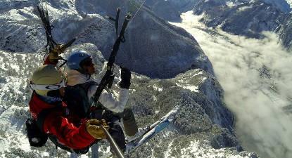Vol en Parapente à Ski et Pilotage à l'Alpe d'Huez