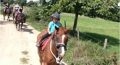 Balade à cheval près de Lyon