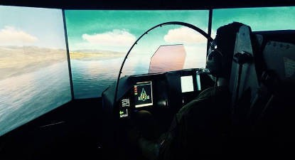 Simulateur de vol avec casque de réalité virtuelle à Lyon