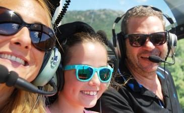 Vol en Hélicoptère au dessus des Gorge de l'Hérault