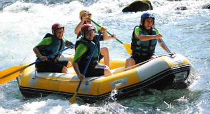 Séance de rafting près de Lourdes