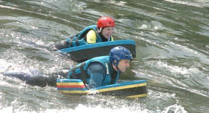 Séance d'hydrospeed près de Lourdes