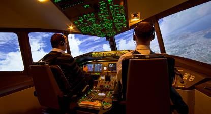 Simulateur avion de ligne près de Nantes