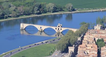 Vol panoramique hélicoptère Pont d'Avignon Vaucluse
