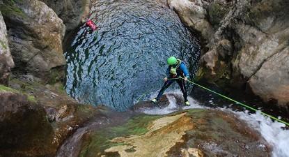 Canyoning au Versoud près de Grenoble