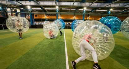 Partie de Bubble foot à Lyon